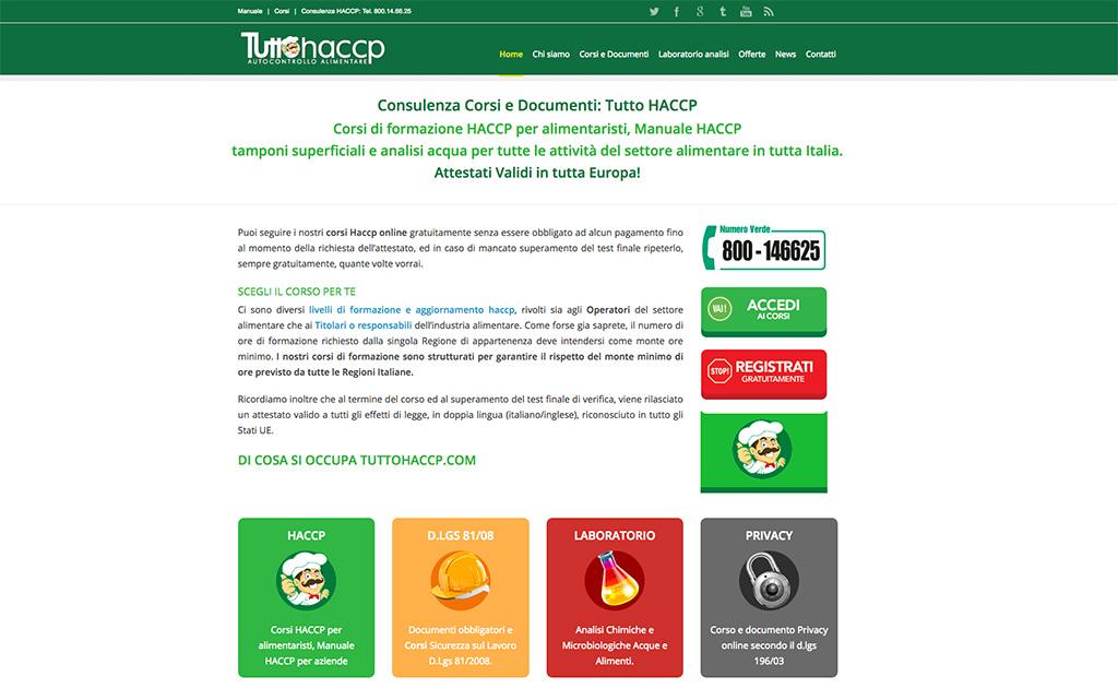 il portale tuttohaccp.com corsi e consulenza in materia di autocontrollo alimentare